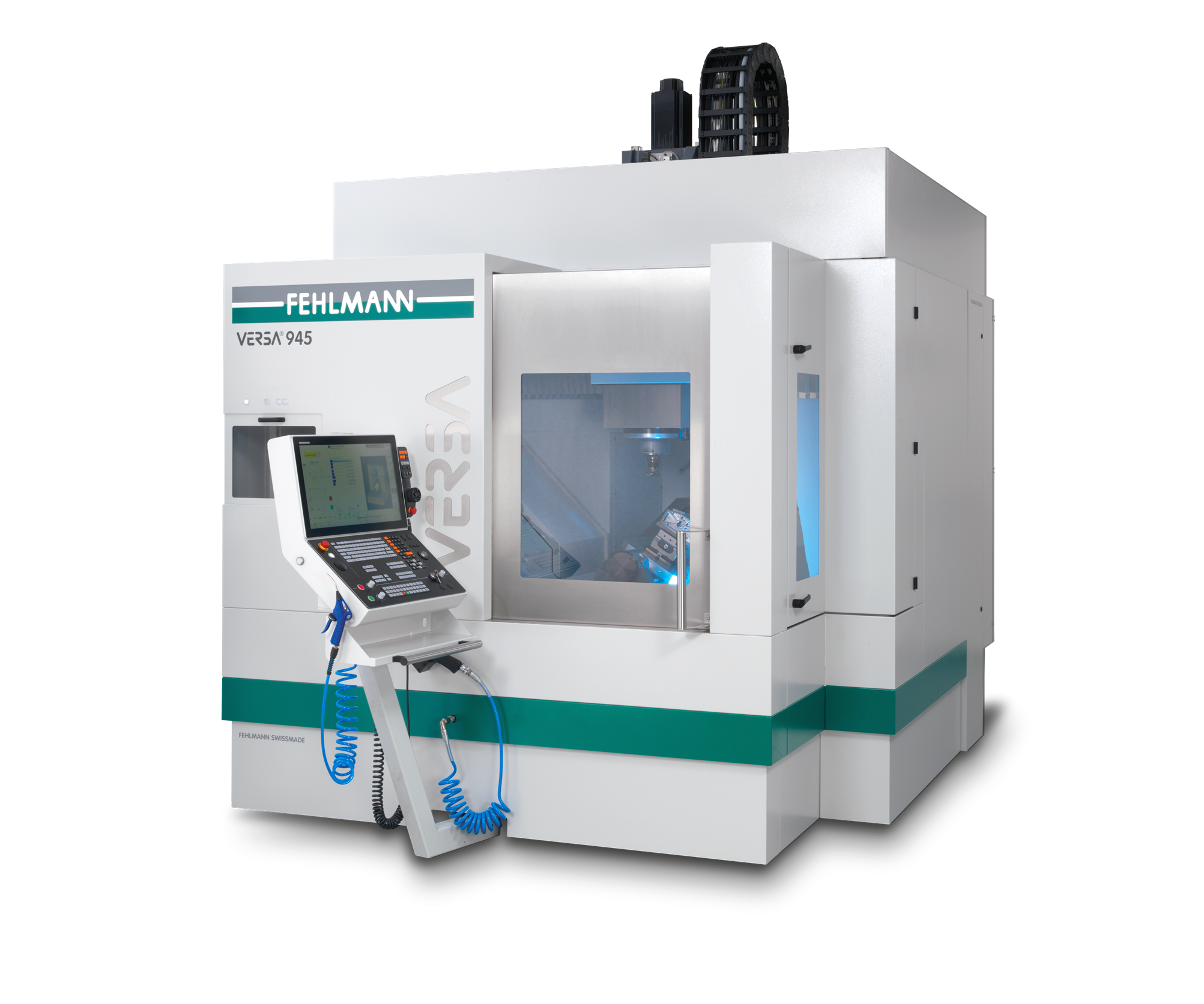 High performance machining center in portal design VERSA 945, for highly precise and dynamic 5-axis machining of workpieces with a swing circle of up to Ø 650 mm