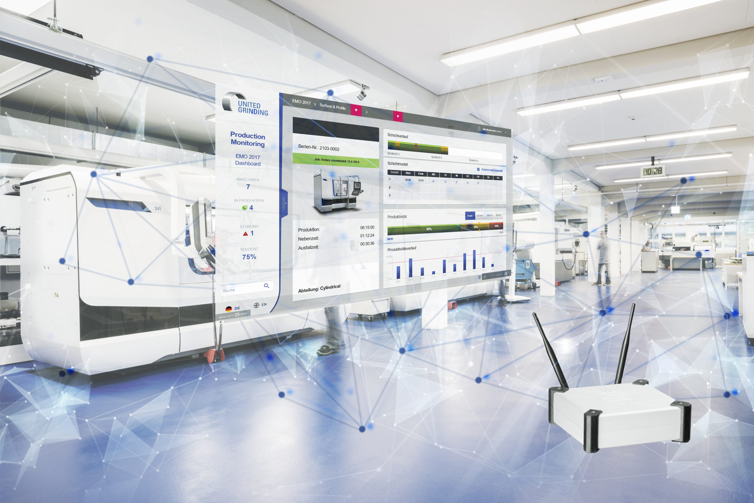 One of the United Grinding Digital Solutions – Production Monitoring.