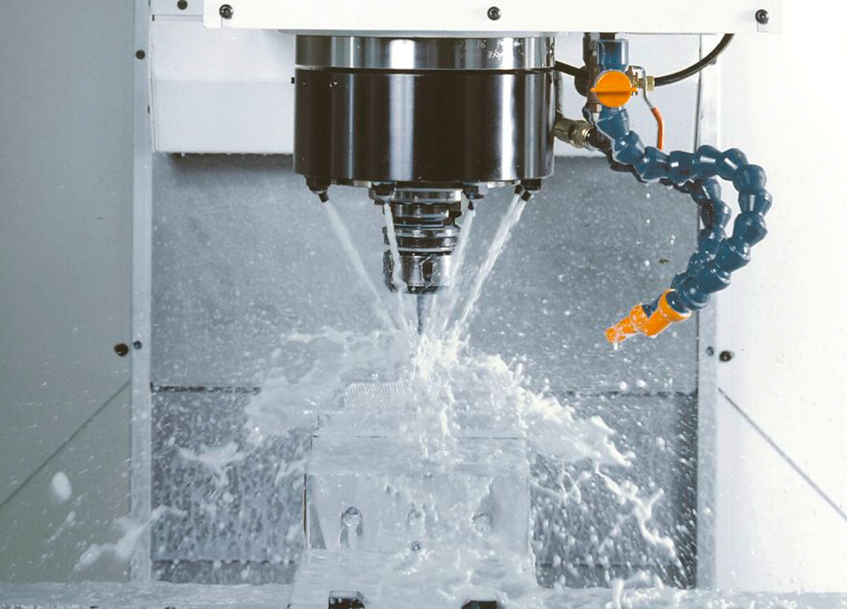 <b>Milling</b><br/> For Mold & Die and Parts Production customers, we offer three- and five-axis machines which achieve accuracy and a high surface finish.