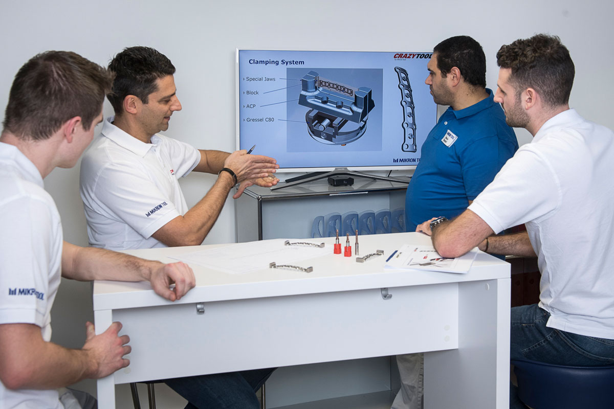 More than cutting tools: R&D team developing solutions for customer projects.