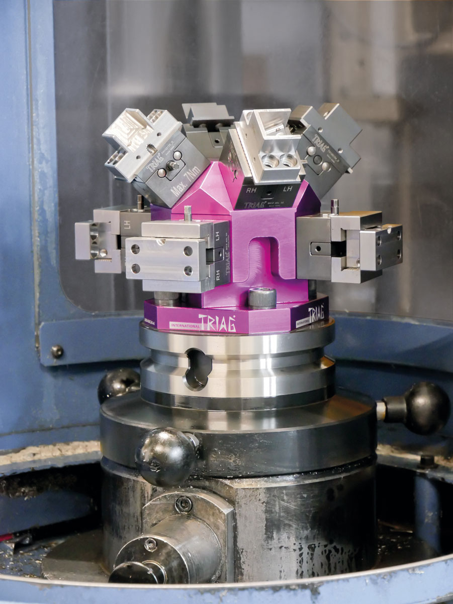 Multiple workholding and 5-axis machining. These are the special features of the