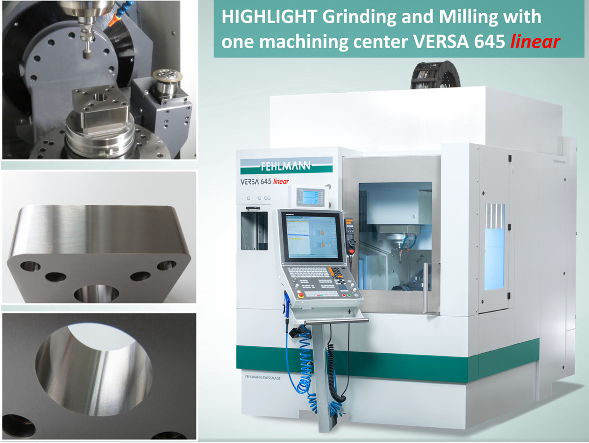 Milling and grinding center VERSA 645 linear – versatile and economical, one machine for two processes