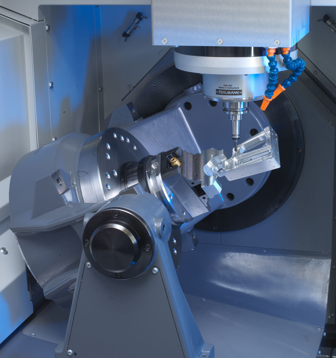 Machining simple or complex precision parts — whether 5-axis with positioning or 5-axis simultaneous milling - high precision and dynamic 5-axis machining