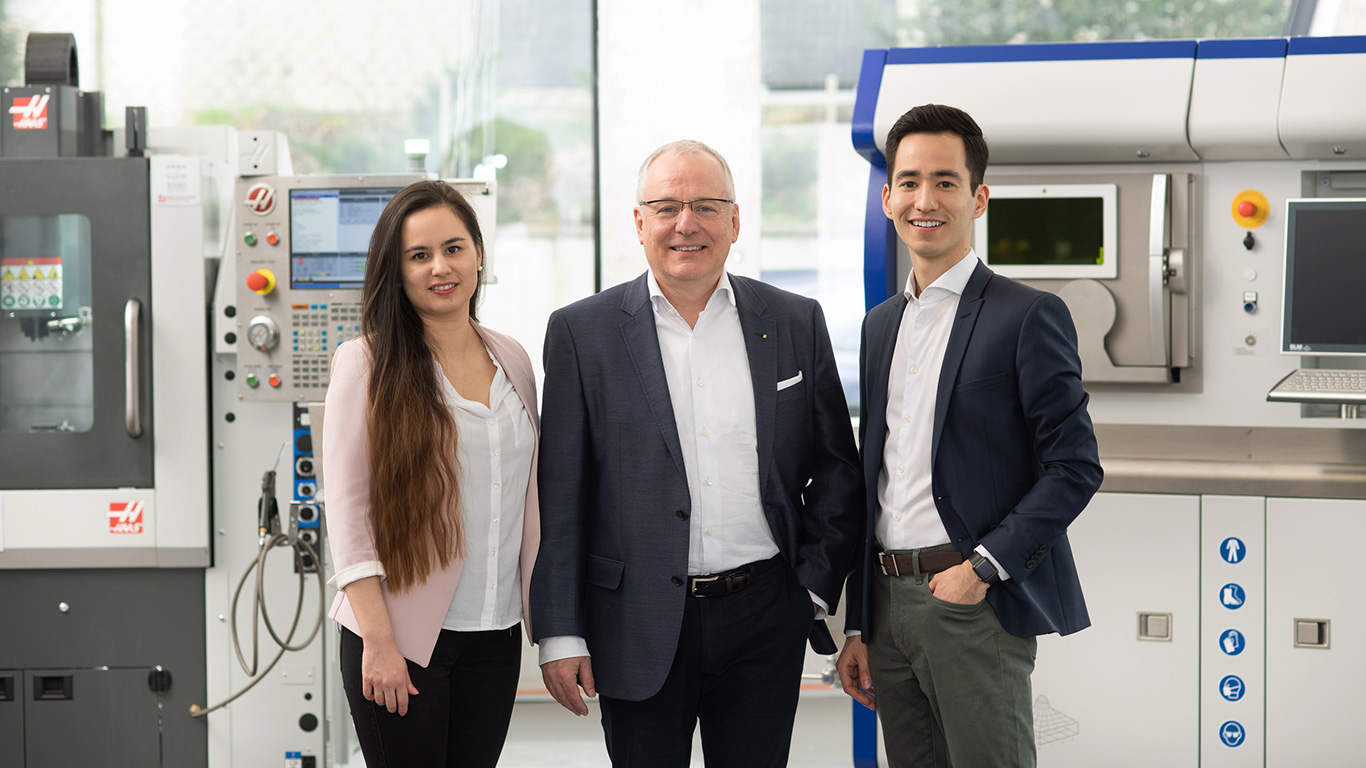 <b>Family business</b><br/>URMA is a modern Swiss family business currently run in second generation, with the third generation already operationally on board.