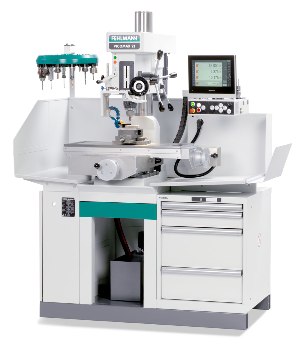 PICOMAX 21-M – robust and very user-friendly precision coordinate drilling and milling machine