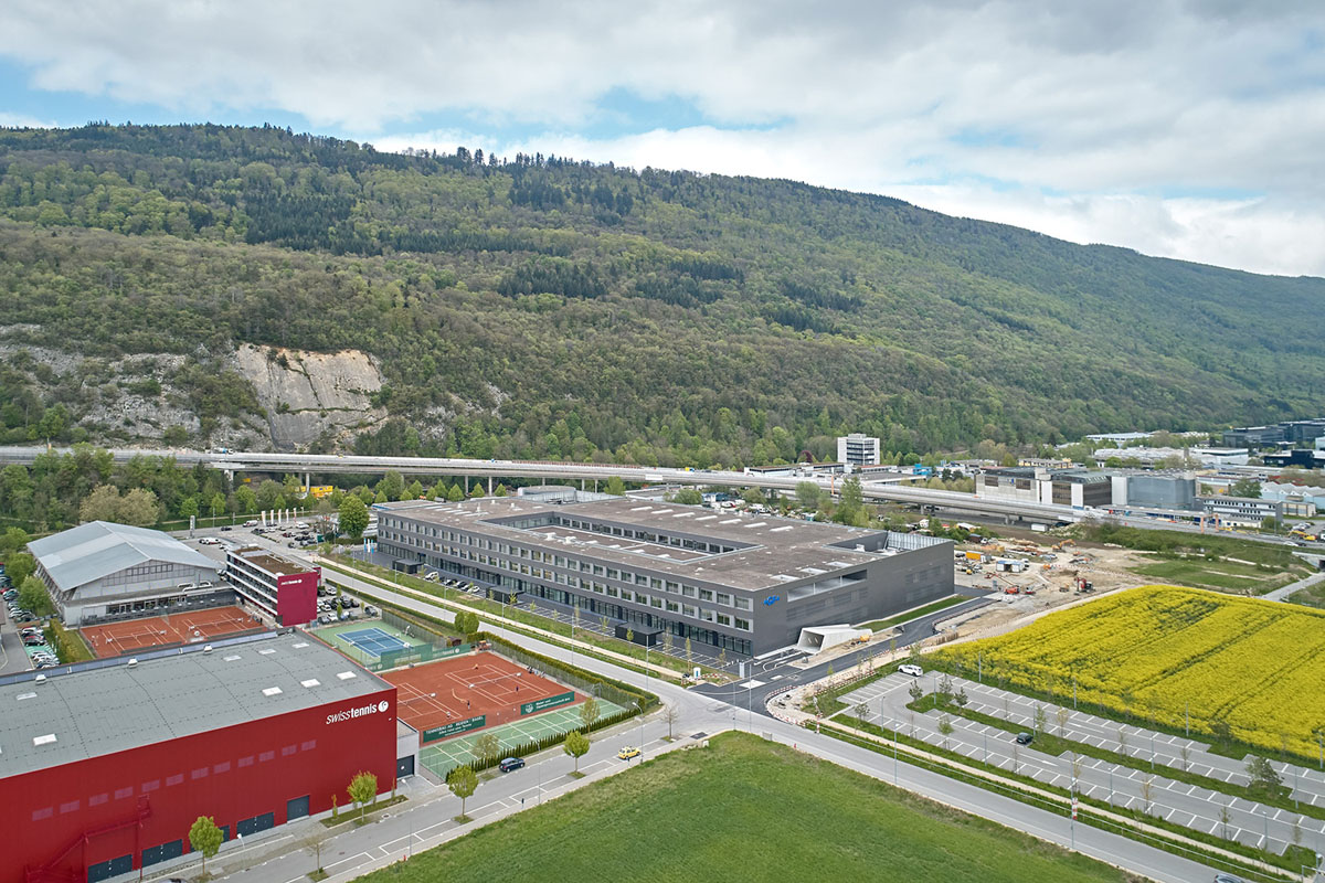 <b>Site</b><br/> Our modern headquarter on 44'000 square meters in Biel, Switzerland, inaugurated in 2019.