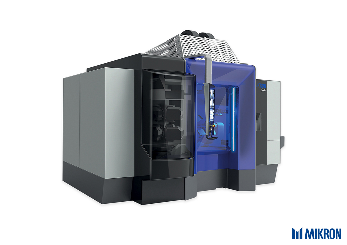 <b>Mikron 6x6</b><br/>The modular machine tool platform with automation included. The individually configurable single and dual-spindle machining center offers 102 different combinations and can be perfectly assembled for any machining scenario.