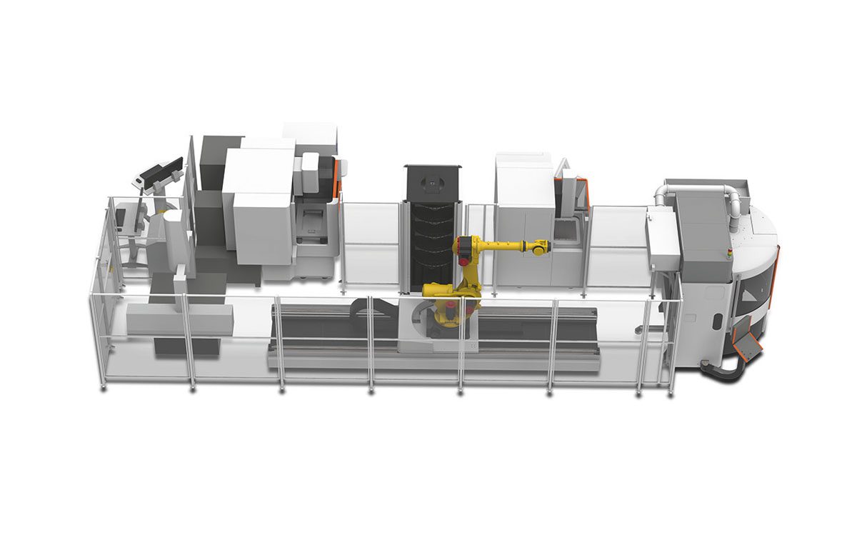 <b>Automation cell</b><br/>  Seamless integration of all your machining applications by the WorkShopManager